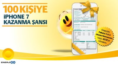 Enerjisa'dan 100 aboneye Iphone7