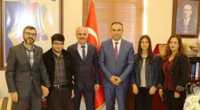 Kaymakam Soytürk'e teşekkür ziyareti