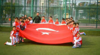 Asaşspor, antrenmana Türk Bayrağı ile çıktı