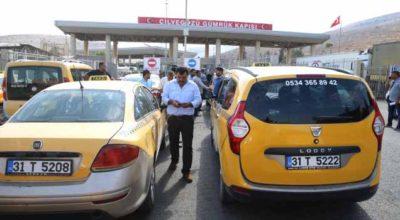 Sınır Kapısı'nda korsan taksi eylemi