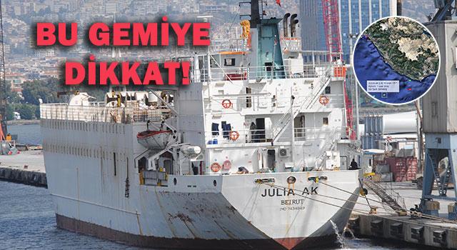 İzmir'den dönen angus gemisi rotasını İskenderun'a çevirdi