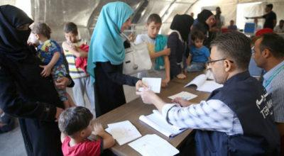 Suriyeli çocuklara aşılı karşılama