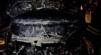 Aracı gözlerinin önünde cayır cayır yandı