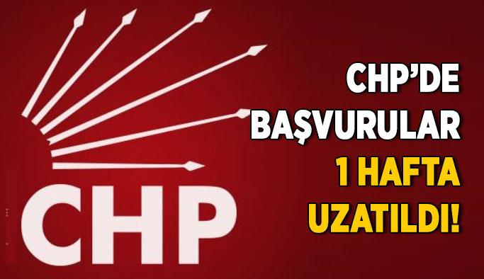CHP'de adaylara ek süre