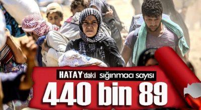 Hatay, Suriyeli mülteci sayısında 3'ncü sırada