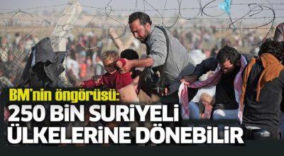 BM'den sığınmacı öngörüsü