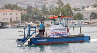 Deniz temizleme teknesi İskenderun'dan başladı