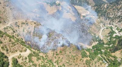 Habib-i Neccar Dağı'ndaki yangın söndürülemiyor!
