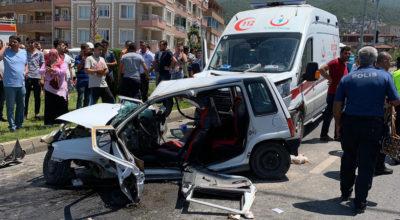 Korkunç kaza; 2 ölü