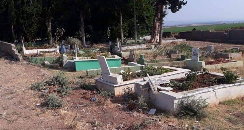 Mezarlıkta ilginç olay!