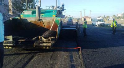 Karaağaç'ta altyapısı tamamlanan yollara asfalt