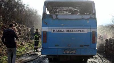 Belediyenin personel servisi cayır cayır yandı