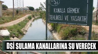 DSİ sulama kanallarına su verecek