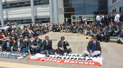 Hatay Barosu'ndan 'Çoklu' protesto!