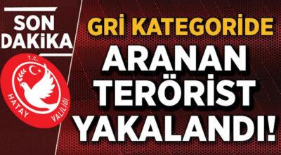 Gri kategoride aranan terörist Hatay'da yakalandı
