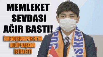 İskenderunspor FK'da istifa depremi!