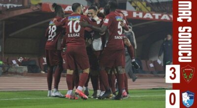 Hatayspor'dan 3 gol 3 puan