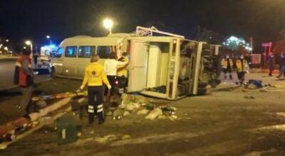 Yine tarım işçileri, yine kaza:16 yaralı