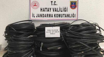Arsuz'daki kablo hırsızları jandarmaya takıldı!