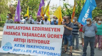Toplu sözleşme protestosu!
